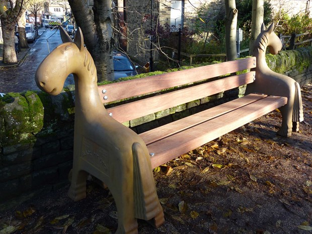canal horse bench