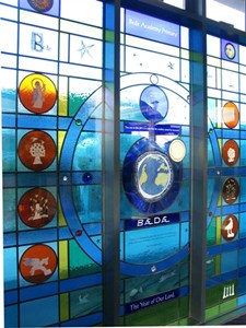 Bede Academy Primary School entrance panel, by Sue Woolhouse