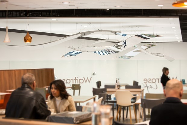 'Floating Vistas' Installation for John Lewis Waitrose, Horsham UK