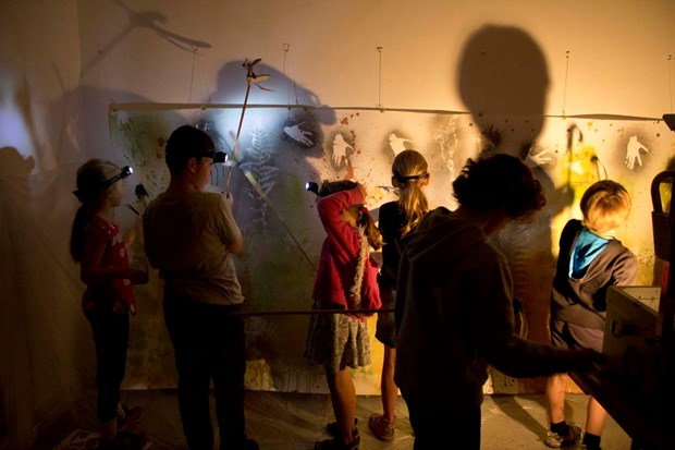 Cave Painting Workshop, by Bridget Kennedy