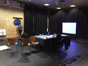 Workshop during Trajectories II, at Waterman's Art Centre, London, 2019,, by K M Bosy