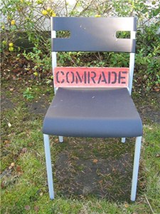 The comrade's chair, by Shelagh Atkinson