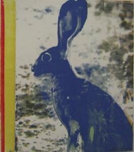 blue Hare, by Shelagh Atkinson