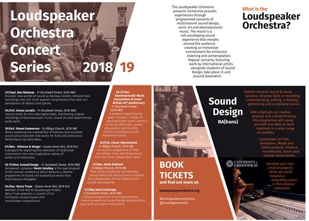 Loudspeaker Orchestra Concert Series 2018/19, by Paula Garcia Stone