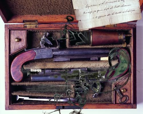 A Pair of Pistols Used at the Battle of Trafalgar (1805)