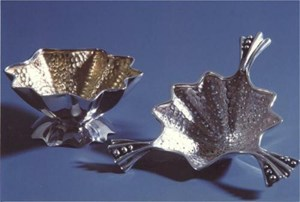 Silver tea strainer, by Pamela Dickinson