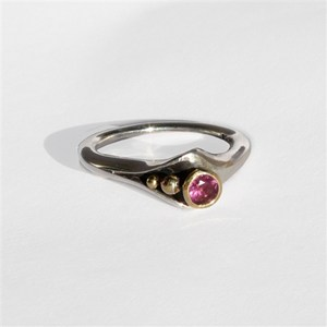 Ring with Rhodolite Garnet, by Pamela Dickinson