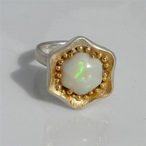 Carver Opal FLOWER ring, by Pamela Dickinson