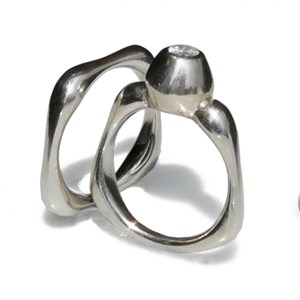 Afino + matching Square ring, by Pamela Dickinson