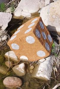 """Sediment Dice "", by Tim Pugh"