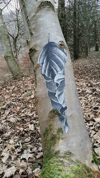 """""""Beach Leaf Sketch""""."""