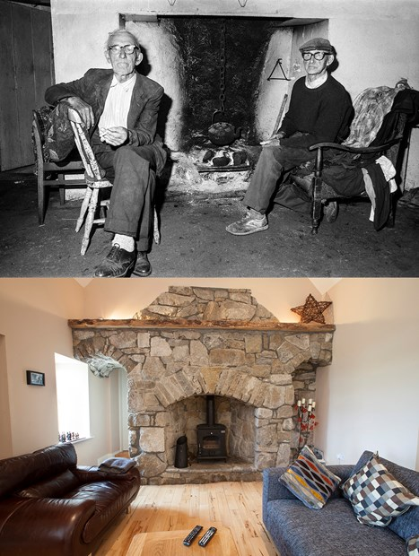 Padraig and Tomaisin's fireplace - Credit: Graham Hembrough