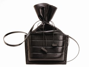 Oblong Capsule bag, by Sue Lowday