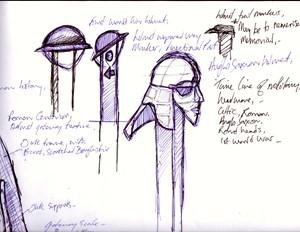 Hogmoor Inclosure Preinterview design concepts and thumbnail sketches, by David Lloyd