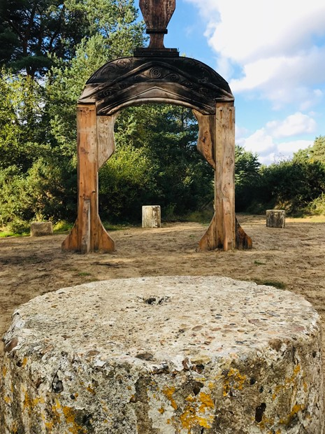 Hogmoor Inclosure Roman Gateway in Situ