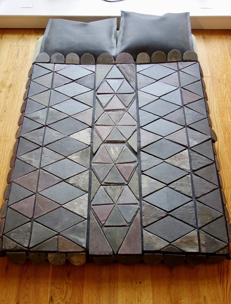 The Slate Quilt Bed - Credit: artist