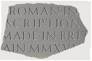 Roman Inscription, by Incisive Incisive Letterwork