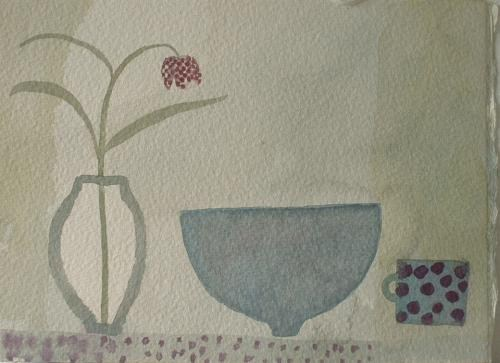 Fritillary with Blue Bowl