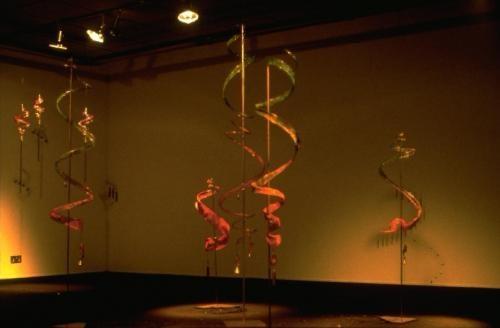 Spirals and dance installation