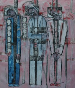 3 figures before separation, by Ricky Romain
