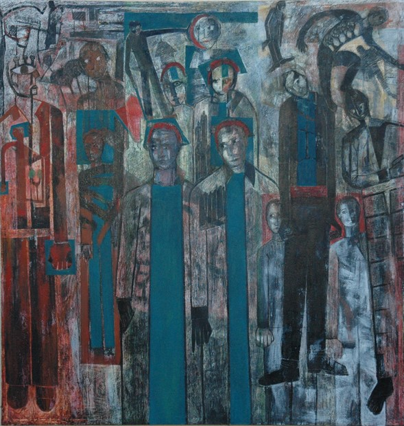 'Marked Men at the Ghetto Theater' Homage to Bomberg.