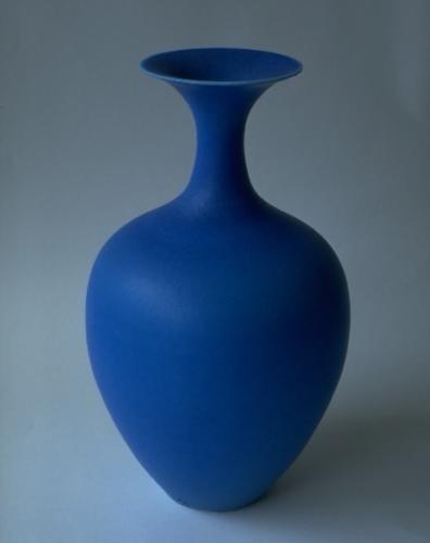 Blue porcelain slender vase