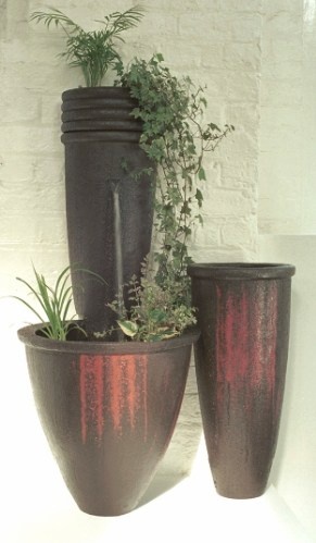 'Dragged' Water-Fall-Garden & Steep Planter