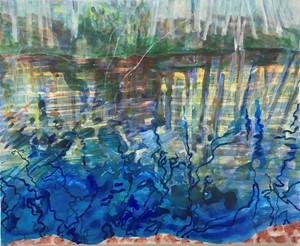Abbots Pond winter, by Vivienne Baker