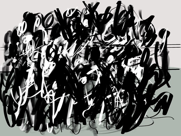 An evening at Rambert Playground drawing the dance. I
