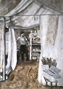 The Chef Volunteer, Calais Jungle Kitchen, by Jenny Mellings