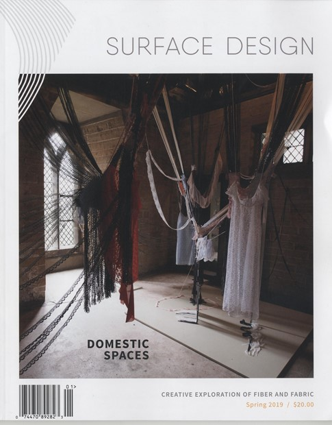 """Domestic Spaces: The Uncanny Lucy Brown"". Surface Design Journal US edition"