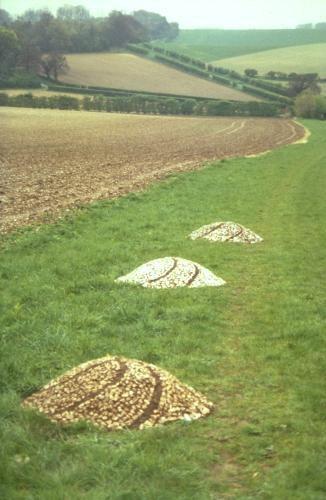 Three mounds