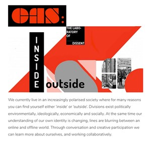 Laboratory of Dissent 2 - Inside/Outside.  Symposium & Video film exhibition, by Steve Hines