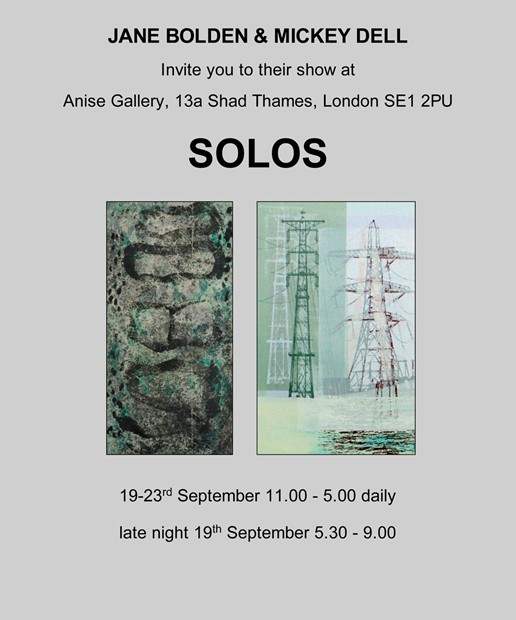 SOLOS: An exhibition of work by two AXIS artists, Jane Bolden & Mickey Dell