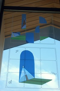 Burnham on Crouch Primary School Capital Build Architectural Glass Project . East elevation, by Tom Pearman