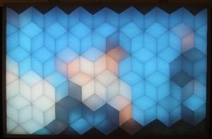 Geometric TV screeen, by Paul Gittins