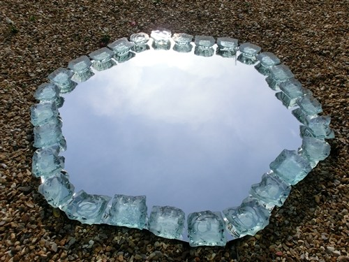 Mirror With Glass Chunks