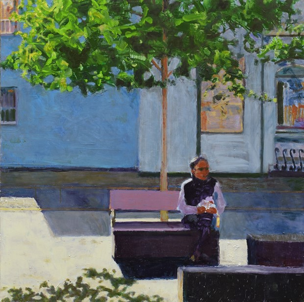 Man on a bench (Giffin Square) 1
