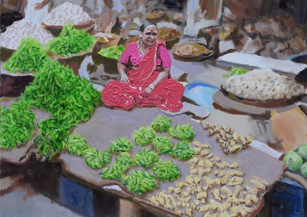 Selling chillis (Mumbai)