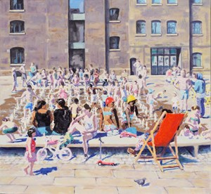 Granary Square triptych. Right, by Trevor Burgess