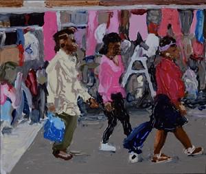 Market shoppers (Deptford), by Trevor Burgess