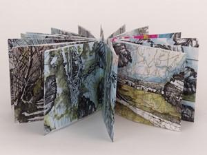 Concertina Map Sketchbook 2 (April 2021), by Emma Williams