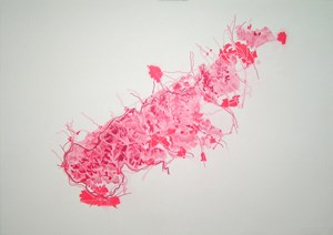 Untitled Red Drawing No.13, by Emma Williams