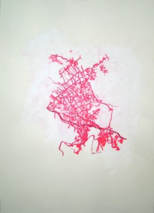 Untitled Red Drawing No.14, by Emma Williams