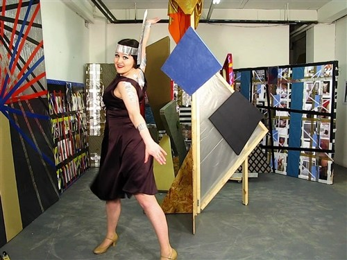Alison J Carr, The Artist, Scene 2, or Dancing in Houston in front of art work by Dale Holmes, 2013