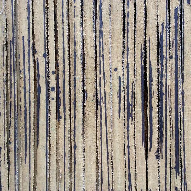 Samhain - Credit: Samhain (detail), clay on canvas, 1.6 x 1.6 m, Robert Dawson 2019