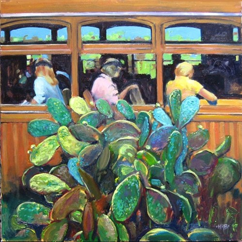 Tram with Prickly Pear (Soller)