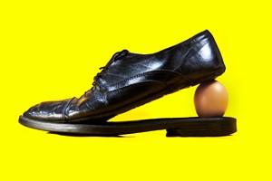 Shoe Egg Yellow 2020, by Jeremy Webb