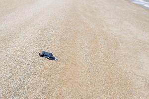 Lone figure in landscape, by Jeremy Webb