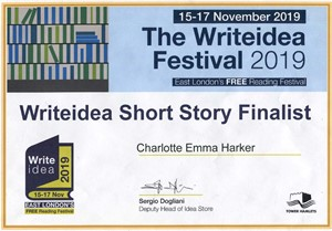 Write Idea Short Story Prize, by Charlotte Harker